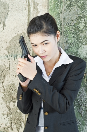 Policewoman in action  Stock Photo