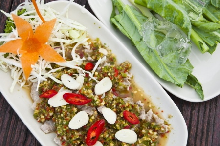 super hot: Super hot and spicy pork salad