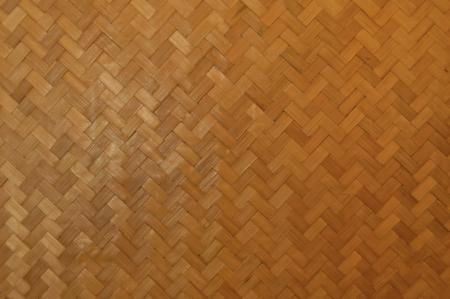 Woven bamboo mat wall  photo