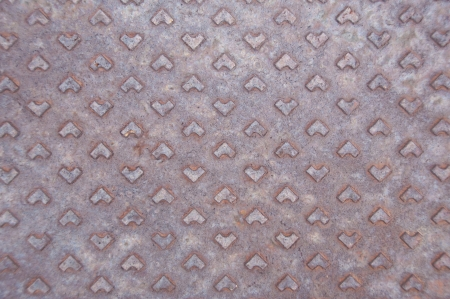 Rusty steel floor as background  photo