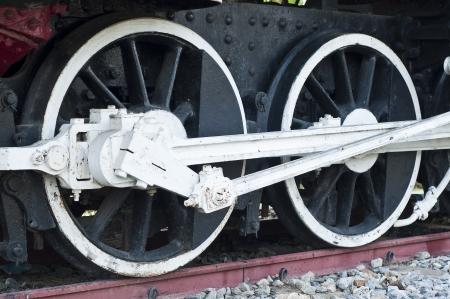 Old train steel wheel  photo