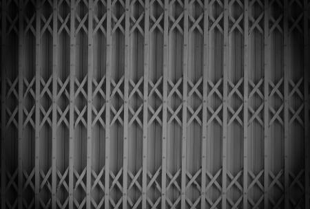Old grocery steel slide door