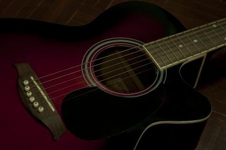 Old folk guitar grunge style