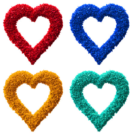Four color of heart paper garland  photo