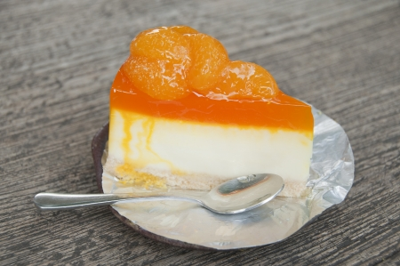 Orange cheese pie cake dessert  Stock Photo