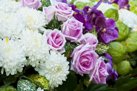 Colorful flower bouquet close up