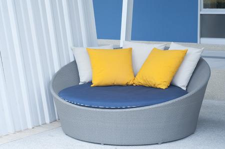Modern sofa interior decoration  photo