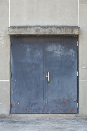 Old steel warehouse door  photo