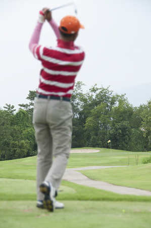 Tee shot in golf course  photo