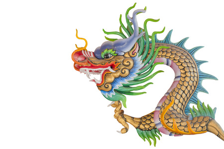 Chinese dragon isolated  photo