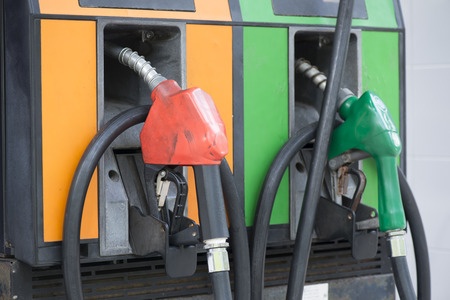 gasoline station: Stazione di benzina Archivio Fotografico