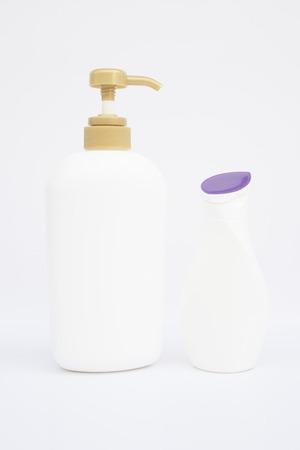 Liquid soap and shampoo bottle  Фото со стока
