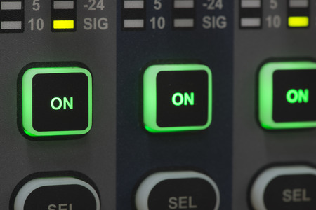 sound system: Sound system control panel.