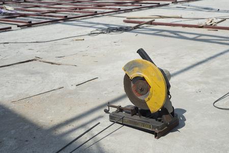 metal cutting: Old metal cutting circular saw blade.