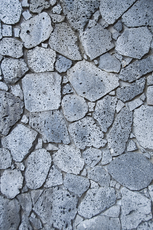 Volcanic rock or Lava rock wall as background. Banque d'images - 111129409