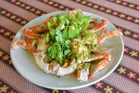 Thai style hot and spicy sea crab salad.