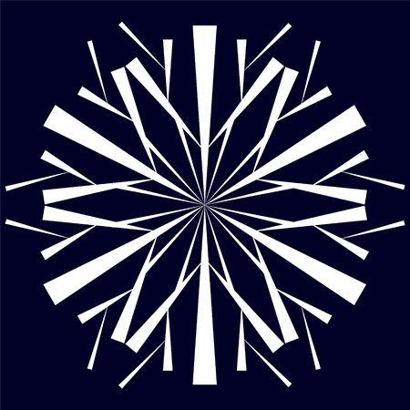 The original white snowflake on a dark blue background
