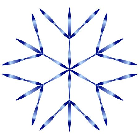 Blue snowflake icon with gradient on white background.