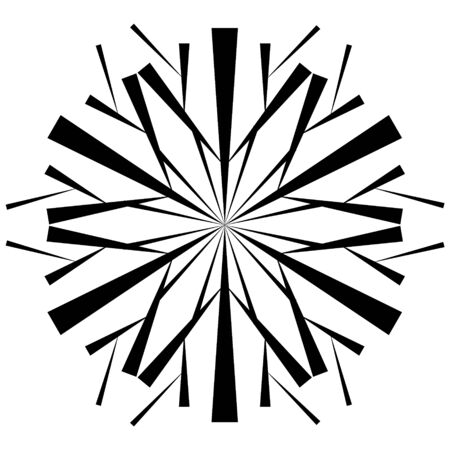 Snowflake icon in black on white background. Element for design on winter themes in the style of hand-drawing. Иллюстрация