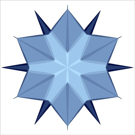 Snow icon on white background. Snow crystal for winter design. Element for Christmas decorations. Иллюстрация