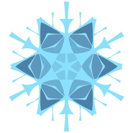 Original stylized snowflake for winter themes. Snow icon in flat style for christmas design.