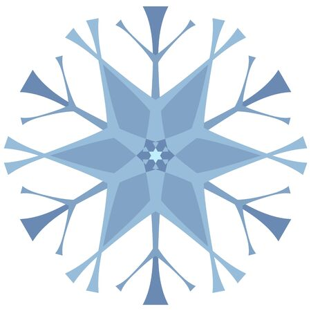 Snow icon blue on white background. Element for abstract background, christmas texture. Иллюстрация