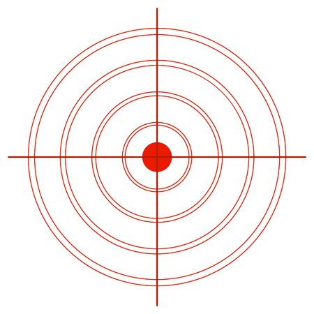 Target from red circles with a cross hair on a white background.