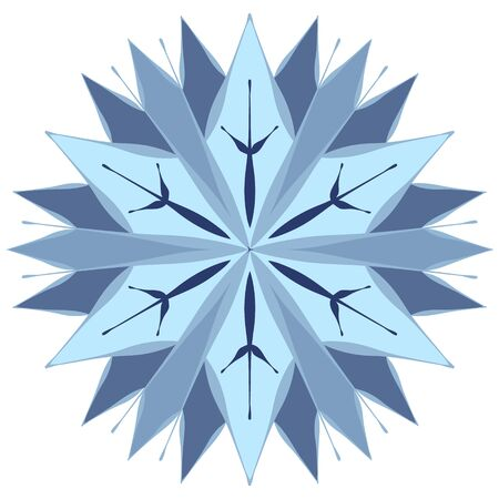 Crystal snowflakes for winter design.
