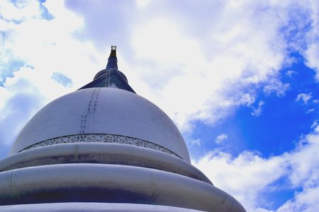 Peace Pagoda Galle Sri Lanka Stock Photo