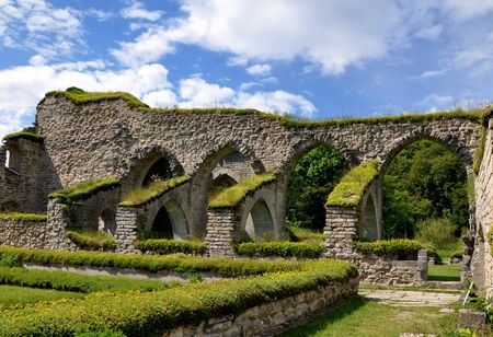12th century: Alvastra Abbey - Founded in the 12th century.  Stock Photo
