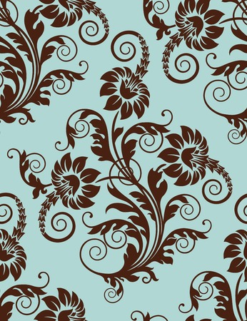 Seamless floral background.  Vector