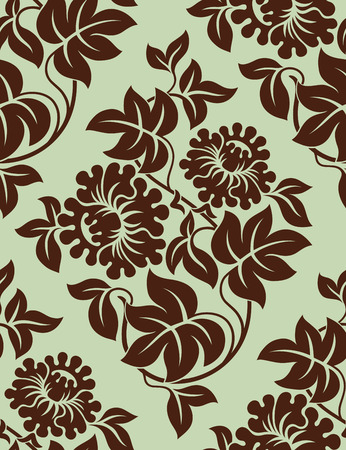 Seamless floral background. Vector illustration. Vector