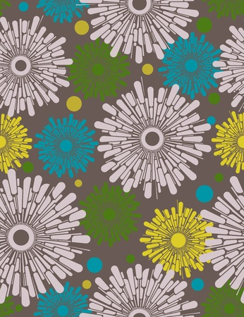 flower design: Abstract floral seamless background. Illustration