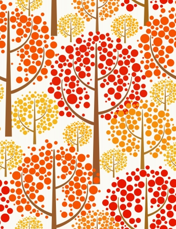Autumn forest. Seamless background.  Vector