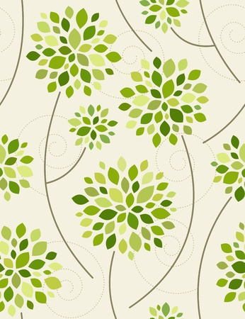 Spring forest. Seamless vector illustration. Vector