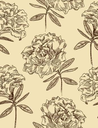 azal�e: Azal�es. Seamless floral pattern dans le style vintage