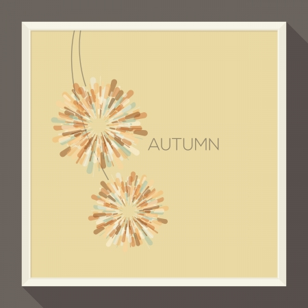Poster with abstract pastel-colored autumn flower  Vector illustration  Vector