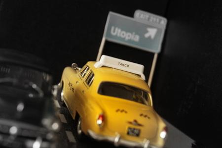 utopia: On the Road to Utopia Stock Photo