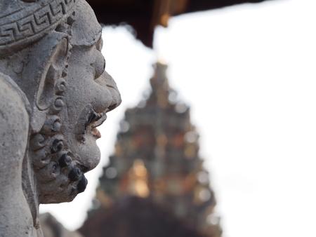 ubud: A statue in a Hindu Temple in Ubud Bali
