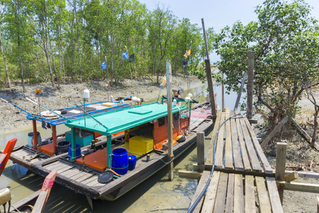old pier: SELANGOR, MALAYSIA - 27032016: boat parking area on the old pier Editorial