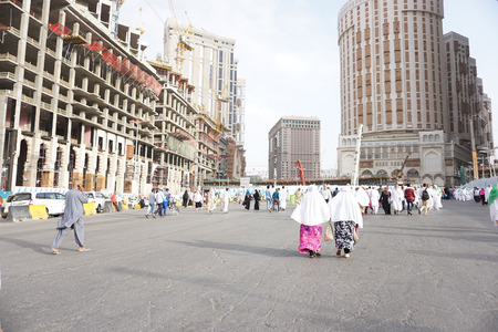 mohammad: MECCA, SAUDI ARABIA-CIRCA FEB 2014: In the city of Mecca that so many people from all over the world and look of the building is being constructed Editorial