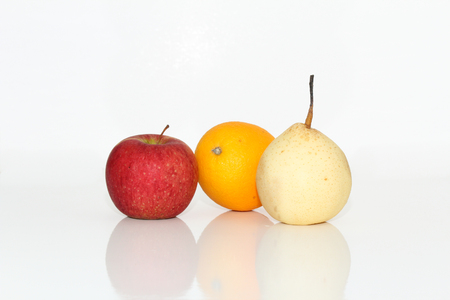 apple orange: Apple, orange, pear