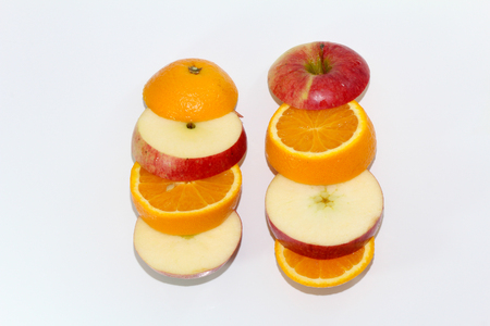 Apple and orange fruit