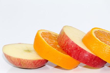 Apple and orange fruit