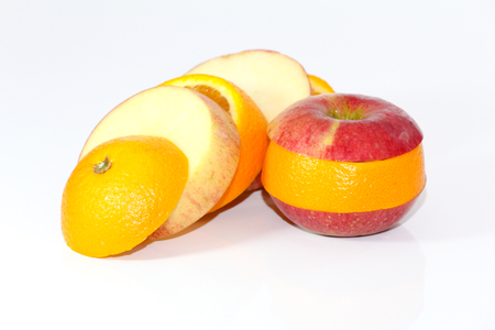 genetically modified organisms: Apple and orange fruit