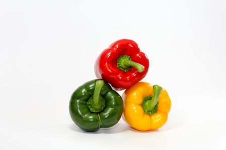 The sweet pepper, bell pepper on white background