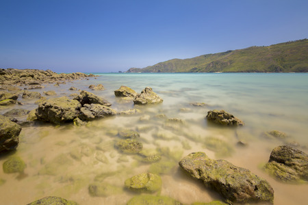 kuta: Beautiful rocky beach and sea near the Kuta, Lombok island