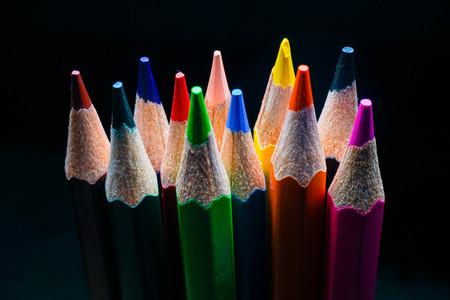 color pencil close up