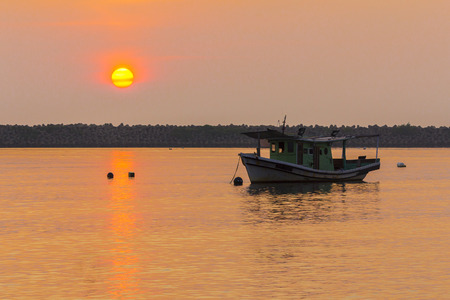 sunrise at the fishing port