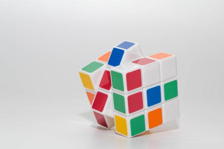 SETIA ALAM, SELANGOR, DEC 30, 2016. Rubiks cube on white background Editorial